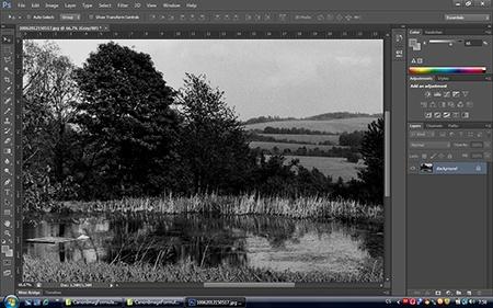 digitalizované foto ve photoshopu CS6