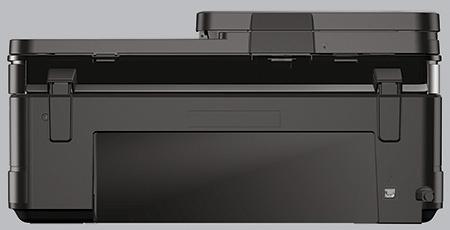 zadní část tiskárny s krytem