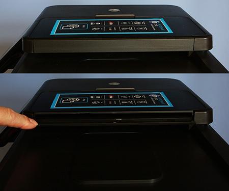 automatický podavač – detaily horního slotu