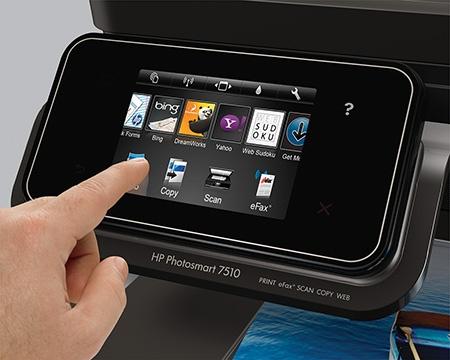 HP Photosmart 7510 e-All-in-One v praxi – dotykový displej