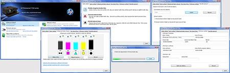 hp7510eaio - údržba tiskárny, kontrola barev, čištění tiskové hlavy