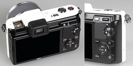 Nikon V1 - zadní část - displej a ovládací prvky