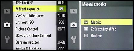LCD - měření expozice