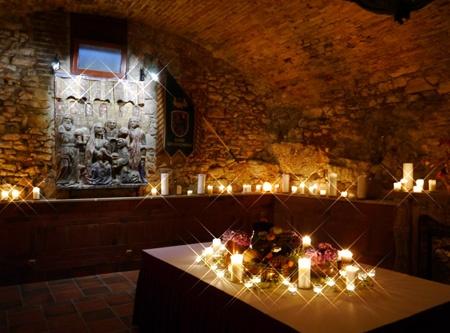 Podzemní modlitebna v Pešti