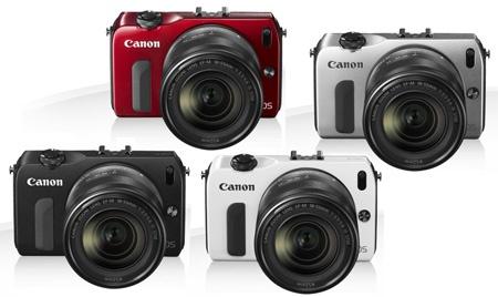 Canon EOS M - čtyři atraktivní barvy