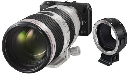 Canon EOS M a adaptér pro objektivy EF a EF-S