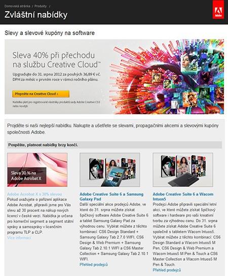 Adobe Creative Cloud výhodněji