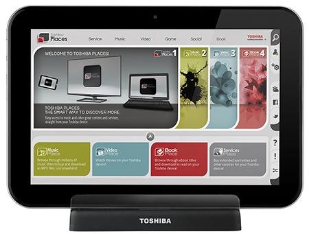 Toshiba AT300 v dokovací stanici