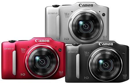 Canon PowerShot SX160 IS - 3 barevné varianty
