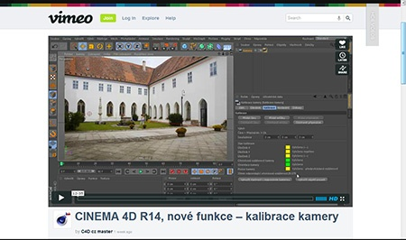 CINEMA 4D R14, nové funkce (02) – kalibrace kamery