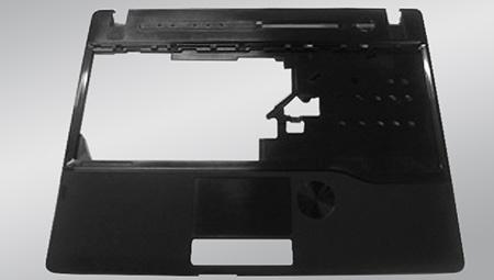 Část notebooku vyrobená z reckylovaného plastu