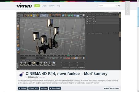 CINEMA 4D R14: Morf kamery