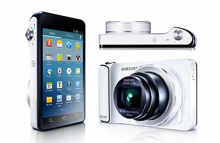 Samsung GALAXY Camera: pohled zepředu, zezadu a shora