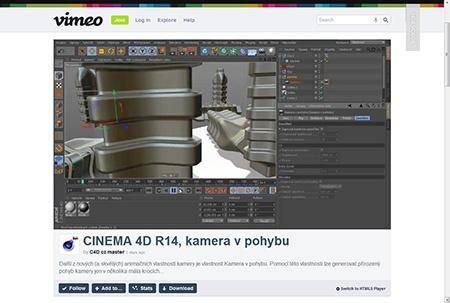 Vimeo.com video - pohyb kamery