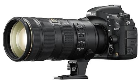 Nikon D600 + objektiv 70-200 mm