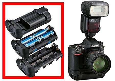 Nikon D600 bateriové madlo a blesk SB-910