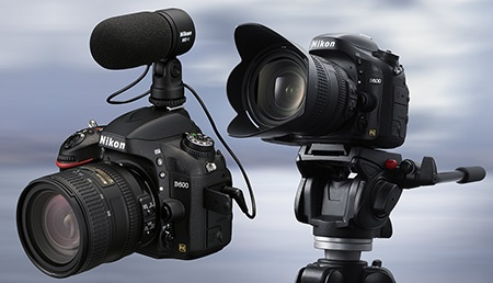 Nikon D600 - externí stereomikrofon