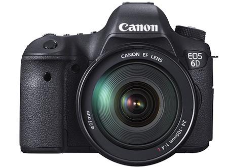 Canon EOS 6D s objektivem EF 24-105 mm - en face