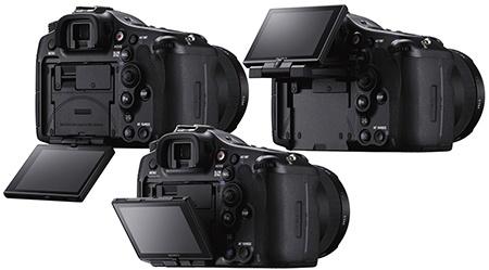 Sony SLT Alfa 99 - výklopný a otočný displej