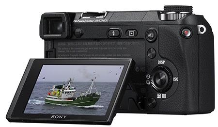 Sony α NEX-6 - výklopný displej