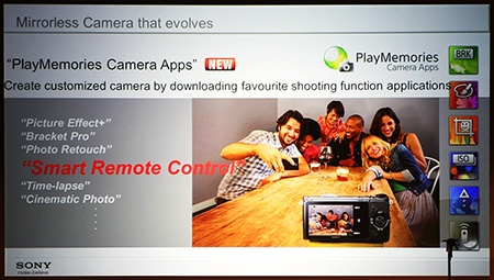 Sony α NEX-6 a PlayMemories Camera Apps