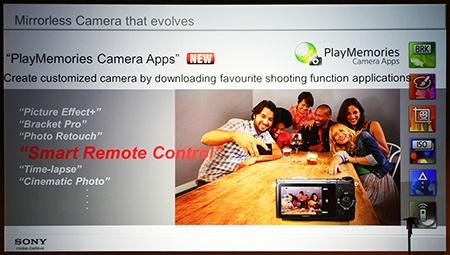 Sony α NEX-6 a PlayMemories Camera Apps