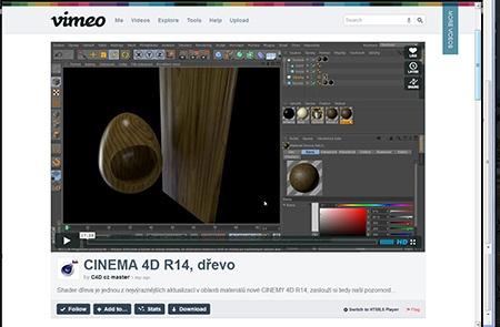 Cinema 4D - dřevo