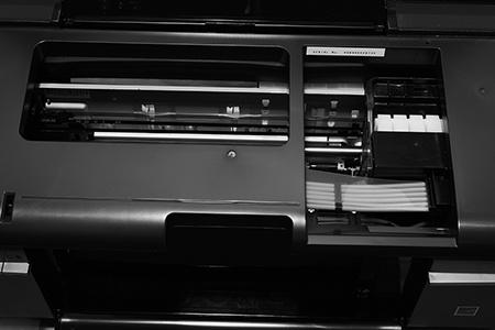 Epson L800 - pohled do nitra