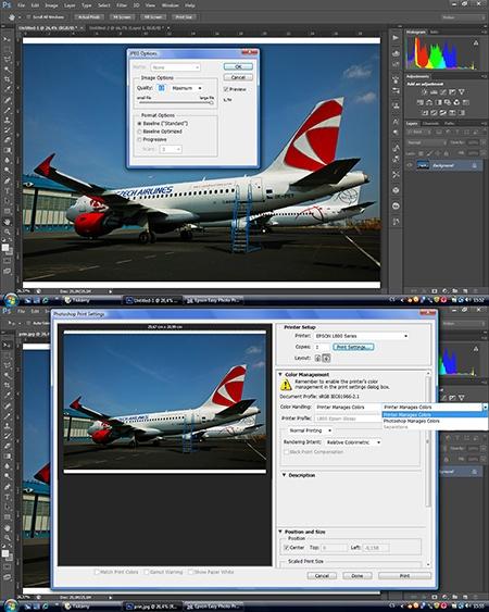Epson L800 - tisk via Adobe Photoshop CS6 Extended