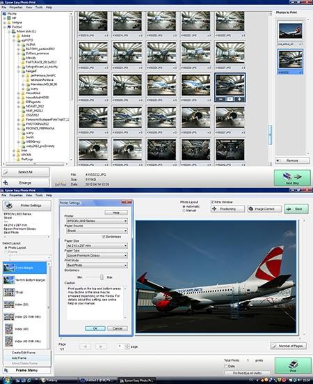 Epson L800 - tisk via Epson Easy Photo Print I