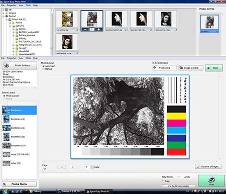 Epson L800 - tisk via Epson Easy Photo Print IV