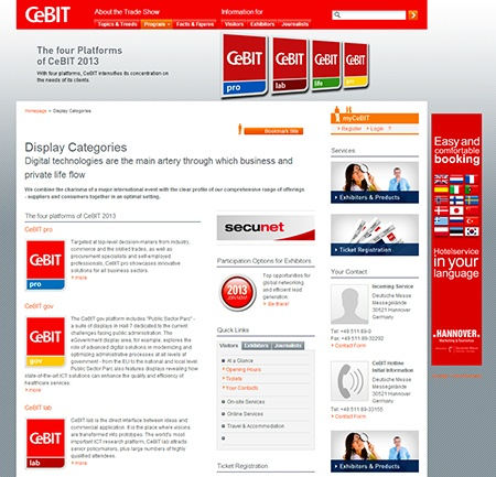 CeBIT 2013 – vybrané základní informace