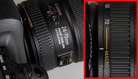Canon EF 24–70 mm 1:4L IS USM - makro - nastavení